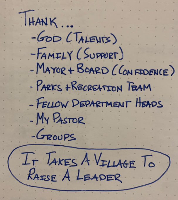 it takes a village to raise a leader